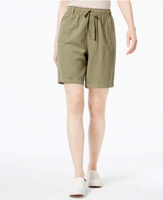 Karen Scott Pull-On Cotton Shorts, Created for Macy's