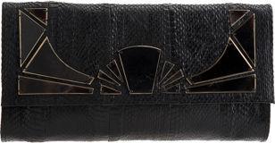 R & Y Augousti Sunsnake Clutch - Black