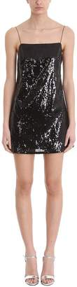 Laneus Black Slip Dress Sequin Blend