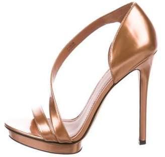 Brian Atwood Metallic Patent Sandals