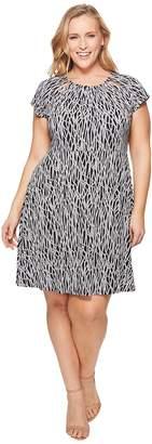 MICHAEL Michael Kors Size Twisted Rope SH Neck Dress Women's Dress