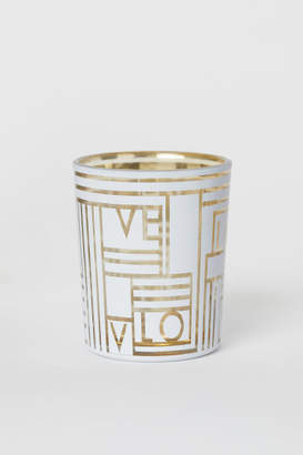 H&M Small Glass Tea Light Holder - Gold