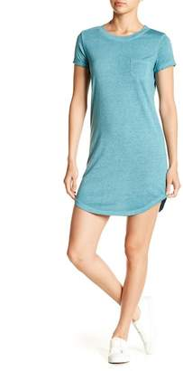 Planet Gold Heathered Knit Tee Dress