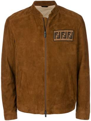 Fendi logo zipped jacket