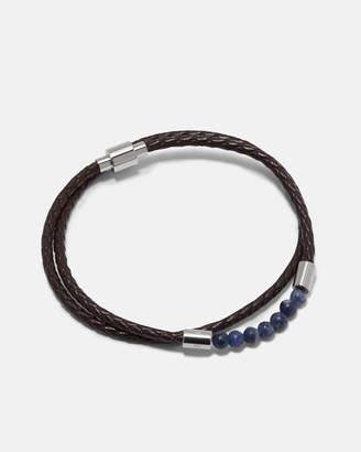 Ted Baker LIZAA Beaded leather double wrap bracelet