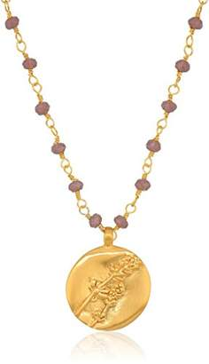 Satya Jewelry Amethyst Gold Wrapped Chain Necklace