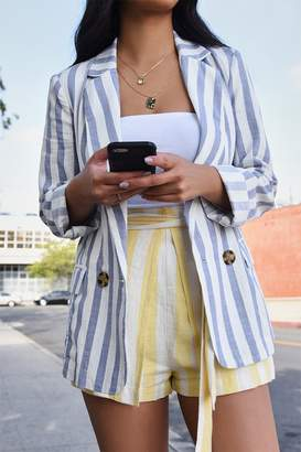 Forever 21 Striped Notched Collar Blazer