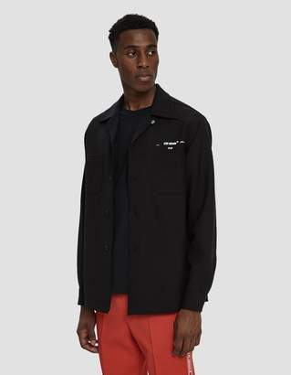 Off-White Off White Long Sleeve Twill Shirt