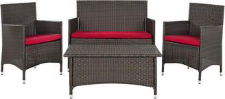 Safavieh Mojavi 4 Pc Wicker Set