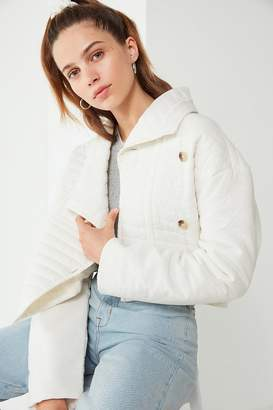 Urban Outfitters Quilted Canvas Cropped Jacket