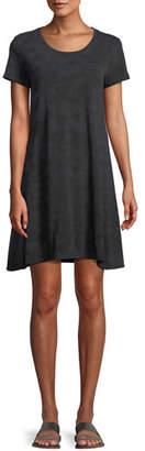 ATM Anthony Thomas Melillo Scoop-Neck Short-Sleeve Soda-Wash Cotton Dress