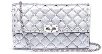 Valentino 'Rockstud Spike' quilted leather chain bag
