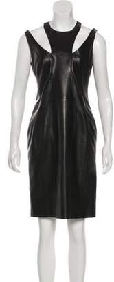 Cushnie et Ochs Leather Knee-Length Dress