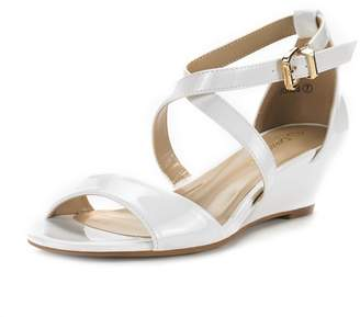 275cce91c at Amazon Canada · DREAM PAIRS Jones New Women Fashion Wear Summer  Crossover Thong Design Low Wedge Dress Pumps Sandals