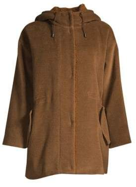 Max Mara Tauro Wool-Blend Faux-Shearling Lined Jacket