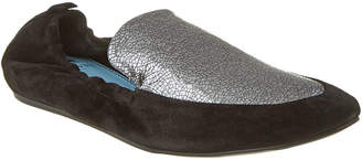 Lanvin Metallic Leather & Suede Loafer