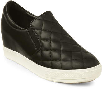 Wanted Black Bushkill Quilted Wedge Sneakers
