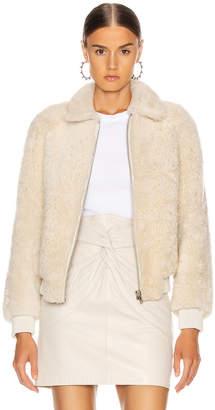 Isabel Marant Salvia Shearling Jacket in Ecru | FWRD