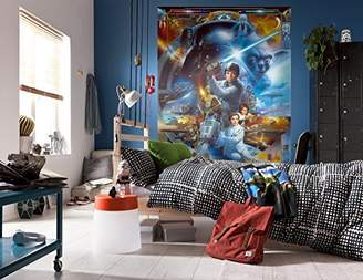 Star Wars Komar Jedi Luke Skywalker Collage Wallpaper Mural, Multi-Colour, 4-Piece