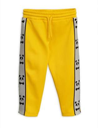 Mini Rodini Yellow Panda Track Pants 2-6 Years