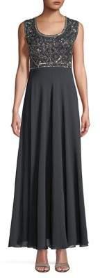 J Kara Seqiun-Embellished Gown