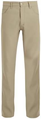 Maison Margiela Slim-leg garbadine trousers