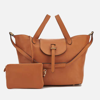Meli-Melo Women's Thela Classic Leather Tote Bag - Tan