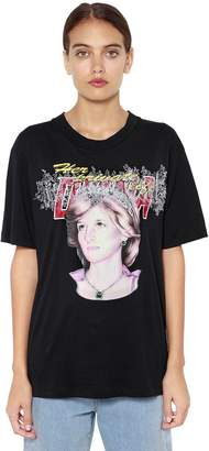Off-White Oversize Lady Diana Print Jersey T-Shirt