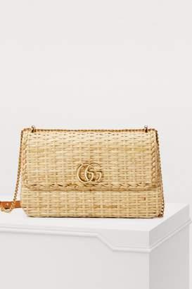 Gucci Cestino straw shoulder bag