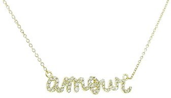 Sydney Evan Diamond AMOUR Necklace in Yellow Gold
