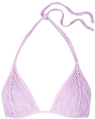 Pilyq Isla Lilac Fringed Bikini Top