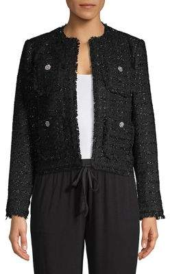 MICHAEL Michael Kors Open-Front Tweed Jacket