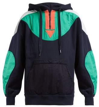 Etoile Isabel Marant Nansel Panelled Cotton Blend Sweatshirt - Womens - Navy Multi