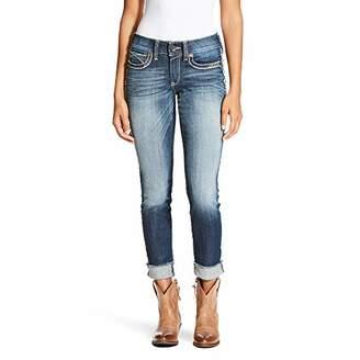 Ariat R.E.A.L Mid Rise Side Seam Fray Skinny Jean