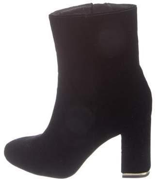 MICHAEL Michael Kors Velvet Square-Toe Ankle Boots