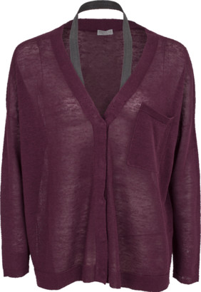 Brunello Cucinelli Cardigan With Monili Halter Strap