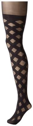 Pretty Polly House Of Holland Gingham Mock Over The Knee Tights Hose