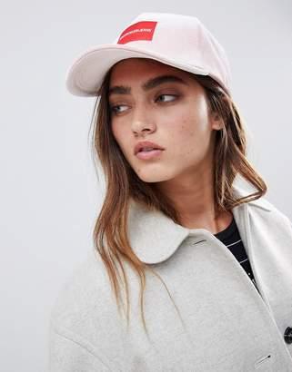 Calvin Klein jeans logo velvet cap