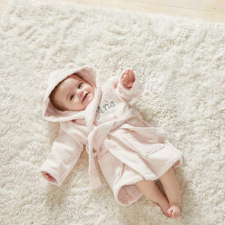 My 1st Years Personalised Embroidered Hooded Baby Pink Bathrobe
