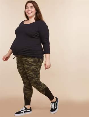 Motherhood Maternity Plus Size Under Belly Maternity Leggings
