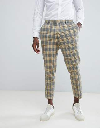 Asos Design DESIGN Skinny Suit Pants In Yellow Tartan Check