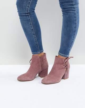 H By Hudson Hudson London Else Pink Suede Ankle Boots
