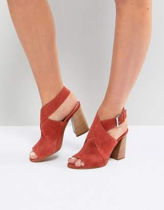 Asos Design TAKOTA Suede Heeled Sandals