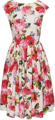 Dolce & Gabbana Peonies Poplin Dress