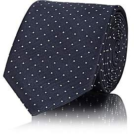 Lanvin Men's Polka Dot Silk Necktie - Navy