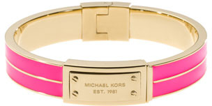 Michael Kors Plaque Hinge Bangle, Neon pink