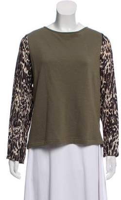 Dries Van Noten Wool Long Sleeve Top