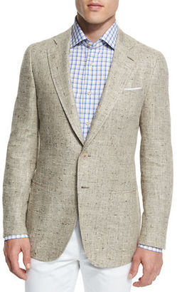 Isaia Gregory Summer Donegal Two-Button Sport Coat $2,995 thestylecure.com