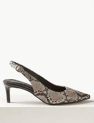 3aa8eb8df7f Slingbacks Leather Slingback Low Heel Shoes - ShopStyle
