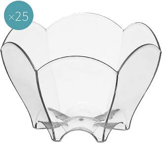 clear Gold Plast Tulip Plastic Dessert Bowl (Set of 25),
